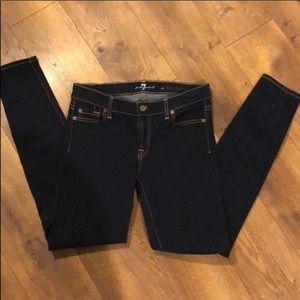 Skinny Seven Jeans dark wash